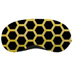 Hexagon2 Black Marble & Yellow Watercolor (r) Sleeping Masks