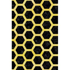 Hexagon2 Black Marble & Yellow Watercolor (r) 5 5  X 8 5  Notebooks