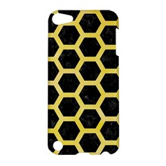 Hexagon2 Black Marble & Yellow Watercolor (r) Apple Ipod Touch 5 Hardshell Case