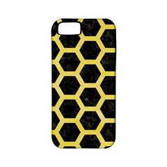 Hexagon2 Black Marble & Yellow Watercolor (r) Apple Iphone 5 Classic Hardshell Case (pc+silicone)