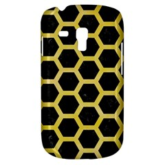 Hexagon2 Black Marble & Yellow Watercolor (r) Galaxy S3 Mini
