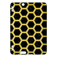Hexagon2 Black Marble & Yellow Watercolor (r) Kindle Fire Hdx Hardshell Case