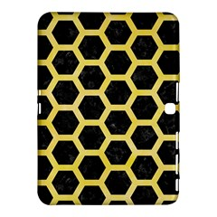 Hexagon2 Black Marble & Yellow Watercolor (r) Samsung Galaxy Tab 4 (10 1 ) Hardshell Case