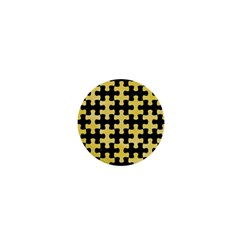 Puzzle1 Black Marble & Yellow Watercolor 1  Mini Buttons