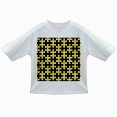 Puzzle1 Black Marble & Yellow Watercolor Infant/toddler T Shirts