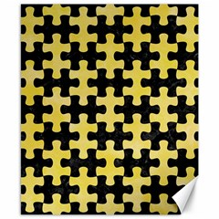Puzzle1 Black Marble & Yellow Watercolor Canvas 8  X 10