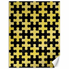 Puzzle1 Black Marble & Yellow Watercolor Canvas 18  X 24