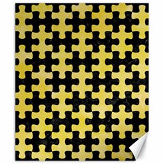 Puzzle1 Black Marble & Yellow Watercolor Canvas 20  X 24