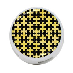 Puzzle1 Black Marble & Yellow Watercolor 4 Port Usb Hub (one Side)