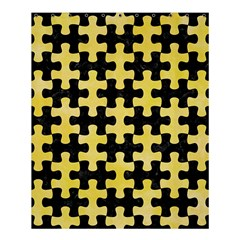 Puzzle1 Black Marble & Yellow Watercolor Shower Curtain 60  X 72  (medium)