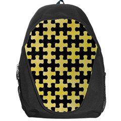 Puzzle1 Black Marble & Yellow Watercolor Backpack Bag