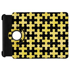 Puzzle1 Black Marble & Yellow Watercolor Kindle Fire Hd 7