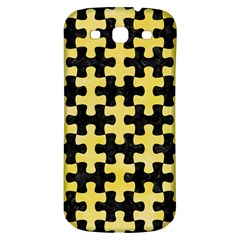 Puzzle1 Black Marble & Yellow Watercolor Samsung Galaxy S3 S Iii Classic Hardshell Back Case