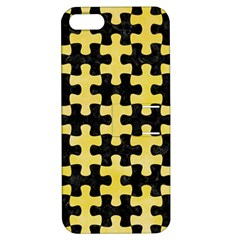 Puzzle1 Black Marble & Yellow Watercolor Apple Iphone 5 Hardshell Case With Stand