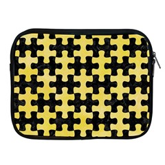 Puzzle1 Black Marble & Yellow Watercolor Apple Ipad 2/3/4 Zipper Cases