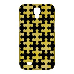 Puzzle1 Black Marble & Yellow Watercolor Samsung Galaxy Mega 6 3  I9200 Hardshell Case