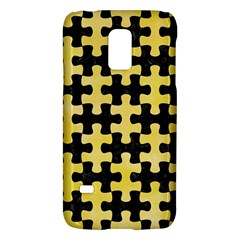 Puzzle1 Black Marble & Yellow Watercolor Galaxy S5 Mini