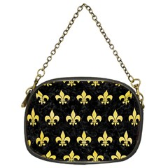 Royal1 Black Marble & Yellow Watercolor Chain Purses (one Side)