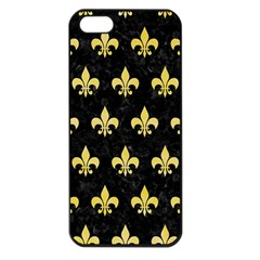 Royal1 Black Marble & Yellow Watercolor Apple Iphone 5 Seamless Case (black)