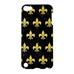 Royal1 Black Marble & Yellow Watercolor Apple Ipod Touch 5 Hardshell Case