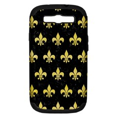Royal1 Black Marble & Yellow Watercolor Samsung Galaxy S Iii Hardshell Case (pc+silicone)
