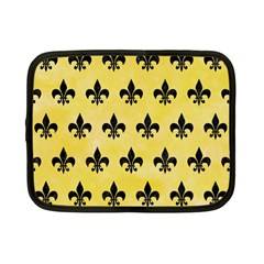 Royal1 Black Marble & Yellow Watercolor (r) Netbook Case (small)
