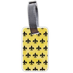 Royal1 Black Marble & Yellow Watercolor (r) Luggage Tags (one Side)