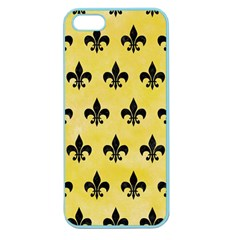 Royal1 Black Marble & Yellow Watercolor (r) Apple Seamless Iphone 5 Case (color)