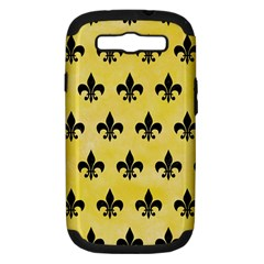 Royal1 Black Marble & Yellow Watercolor (r) Samsung Galaxy S Iii Hardshell Case (pc+silicone)