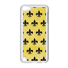 Royal1 Black Marble & Yellow Watercolor (r) Apple Ipod Touch 5 Case (white)