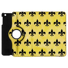 Royal1 Black Marble & Yellow Watercolor (r) Apple Ipad Mini Flip 360 Case