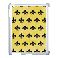 Royal1 Black Marble & Yellow Watercolor (r) Apple Ipad 3/4 Case (white)