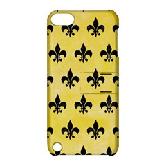 Royal1 Black Marble & Yellow Watercolor (r) Apple Ipod Touch 5 Hardshell Case With Stand