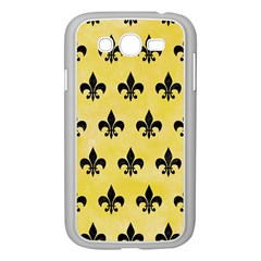 Royal1 Black Marble & Yellow Watercolor (r) Samsung Galaxy Grand Duos I9082 Case (white)