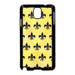Royal1 Black Marble & Yellow Watercolor (r) Samsung Galaxy Note 3 Neo Hardshell Case (black)