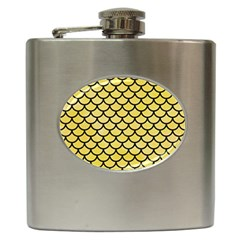 Scales1 Black Marble & Yellow Watercolor Hip Flask (6 Oz)