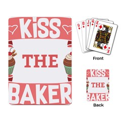 Kiss The Baker Playing Card