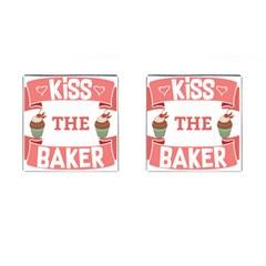 Kiss The Baker Cufflinks (square)