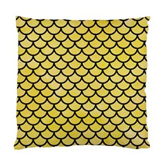 Scales1 Black Marble & Yellow Watercolor Standard Cushion Case (one Side)