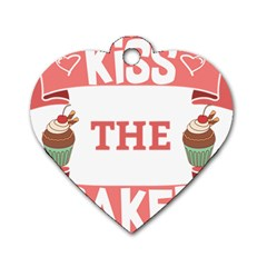 Kiss The Baker Dog Tag Heart (two Sides)