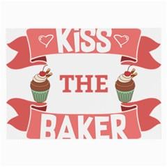 Kiss The Baker Large Glasses Cloth (2 Side)
