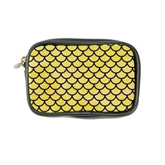 Scales1 Black Marble & Yellow Watercolor Coin Purse