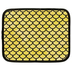Scales1 Black Marble & Yellow Watercolor Netbook Case (xl)