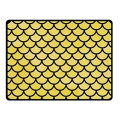 Scales1 Black Marble & Yellow Watercolor Fleece Blanket (small)