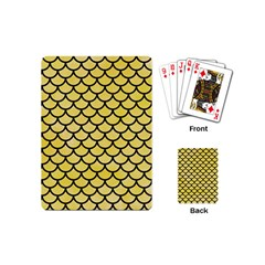 Scales1 Black Marble & Yellow Watercolor Playing Cards (mini)
