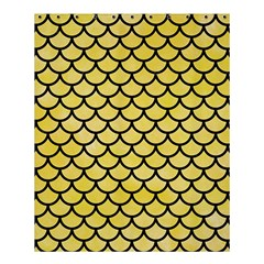 Scales1 Black Marble & Yellow Watercolor Shower Curtain 60  X 72  (medium)