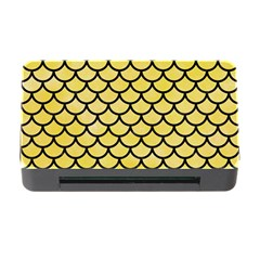 Scales1 Black Marble & Yellow Watercolor Memory Card Reader With Cf