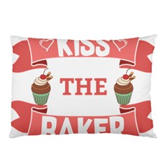 Kiss The Baker Pillow Case (two Sides)