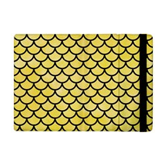 Scales1 Black Marble & Yellow Watercolor Apple Ipad Mini Flip Case