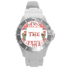 Kiss The Baker Round Plastic Sport Watch (l)